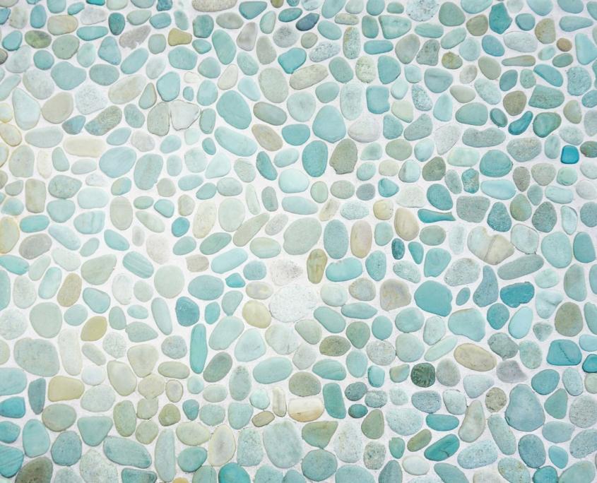 Blaue Steine als Mosaik